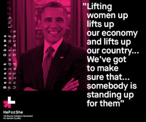 Barack Obama heforshe